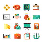 Stock Illustration of Finance Icons Set