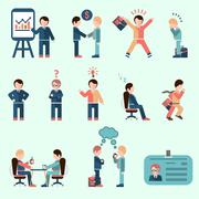 Stock Illustration of Business people set