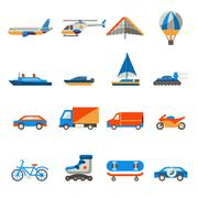 Transport icons set Stock Illustration