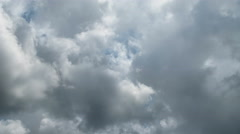 time-lapse of storm clouds - stock footage