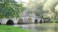 4K roman bridge in ilidza sarajevo Stock Footage