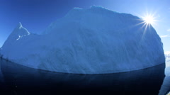 Icebergs Global Warming Melting Frozen Mass Ecotourism Disko Bay - stock footage