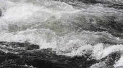 Rapids in a river - stock footage