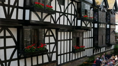 Historic Canterbury, River Stour, Canterbury, Kent, England Stock Footage