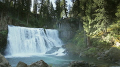 Middle McCloud Falls (wide) Stock Footage