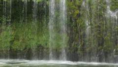 Mossbrae Falls closeup (tilt) Stock Footage