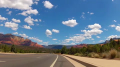POV Bicycle Rider In Sedona Arizona Bike Lane Stock Footage