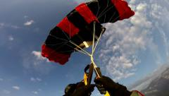 Parachute Twist - stock footage