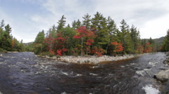 Swift River in Autumn (fisheye), New Hampshire Stock Footage
