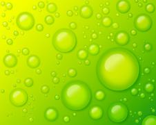 Water Drops on Green Background Abstract Stock Photos