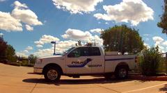 Sedona Police Department Cruiser Patrol Truck- Sedona Arizona Stock Footage