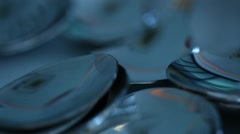 Closeup of house hold Table spoons Stock Footage