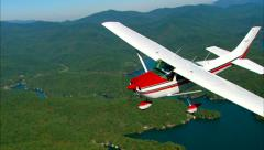 Cessna 182 Skylane Air to Air CU Stock Footage