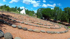 Traditional Stone Circle Labyrinth Tilted- Sedona Arizona Stock Footage