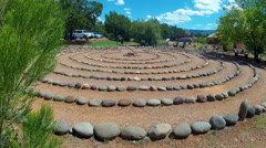 Traditional Stone Circle Labyrinth- Sedona Arizona Stock Footage