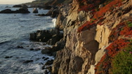 Stock Video Footage of Big Sur coast sunset glow (slow motion)
