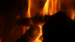 Flames of an indoor firepalce Stock Footage