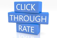 click through rate - stock illustration