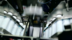 production of toothpaste tubes factory - stock footage