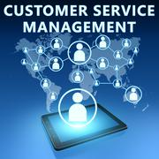 Customer service management Stock Illustration