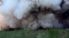 package with explosives explodes - stock footage