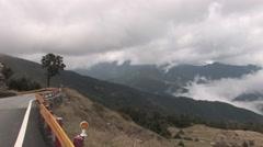 Yushan (玉山) mountain range & sea clouds - stock footage