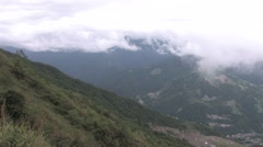 Yushan (玉山) mountain range and sea clouds - stock footage