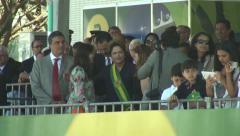 President Dilma Rousseff taking photo Stock Footage