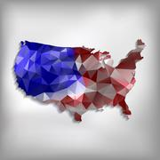 Usa map geometric polygonal design Stock Illustration