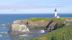 Yaquina Head Lighthouse, Oregon (closeup) Stock Footage