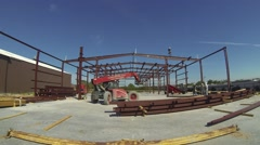 Steel Building Construction Timelapse - stock footage