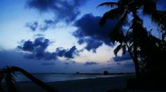 Tropical island sunrise,  Iruveli Stock Footage