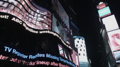 Times Square Electronic Billboards. Times Square Signs. TS at night. Stock Footage