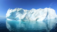 Ilulissat Icefjord Disko Bay UNESCO Travel Destination Greenland - stock footage