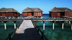 water villa, maldives resort - stock footage