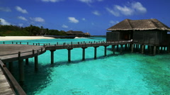 water villa, maldives resort - stock footage