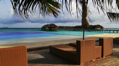 Maldives resort Stock Footage