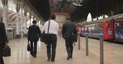 Commute to London Paddington station fades 4K Stock Footage