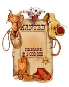 Wanted western vintage poster - stock illustration
