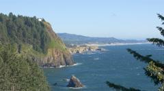 Cape Foulweather, Central Oregon Coast Stock Footage