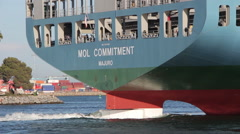 Container Ship Rudder - stock footage