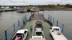 Ferry with Vehicles Stock Footage