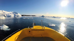 POV Disko Bay World Heritage Site Travel Tourism Melting Glacial Environment - stock footage