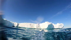 Blue Water Environment Climate Change Polar Ice Thawing Warming Temperature - stock footage