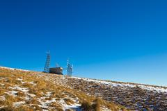 Telecomunication station on the top of the mountain Stock Photos