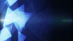 Glowing triangles modern background loop Stock Footage