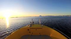 POV Time Lapse Drifting Melting Icebergs Frozen Polar Icecap Rising Sea Levels Stock Footage