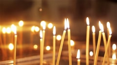 Wax church candles Stock Footage