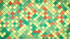 Geometric pattern of colorful squares loop Stock Footage