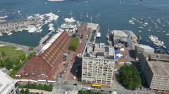 HD Long Wharf Aerial Boston Stock Footage